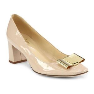 Kate Spade - Dijon Patent Leather Pumps Bow Nude 8